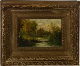Fine Framed Early 19th Century Oil - A Parkland Walk