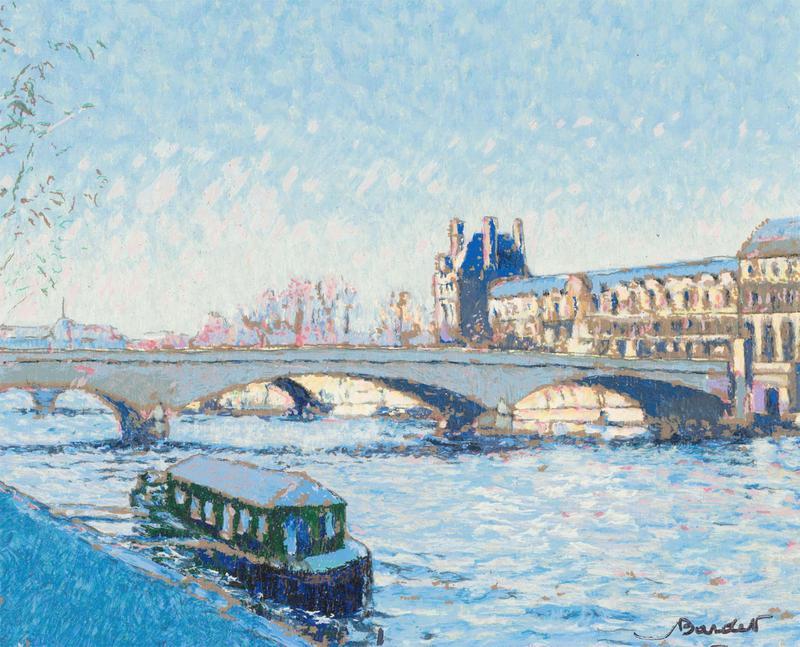 Andre Bardet (1909-2006) - Signed 1999 Serigraph, La Seine a Paris