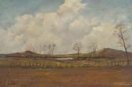 J. Lipscomb - 1970 Oil, Landscape View with Small Lake