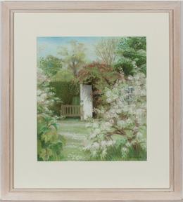 Rimmins - Framed Contemporary Pastel, Spring Garden
