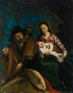 Alan McDonald After Murillo - 1996 Oil, The Flight to Egypt