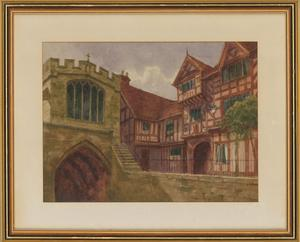 William Frederick Caswell - Late 19th Century Watercolour, Street Scene