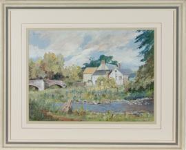 R.B. - 1997 Acrylic, Abercynrig Mill, Breconshire