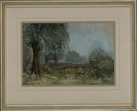 Robert Brackston - 1971 Oil, Misty Day