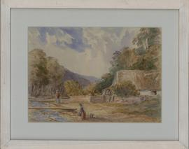 Attrib. William Snell Morrish (1844-1917) - Watercolour, Figures by a Cottage
