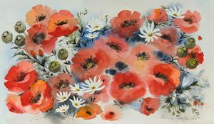 Pamela Smethurst - Signed Mid 20th Century Watercolour, Poppies