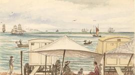 19th Century Watercolour - Sandgate from the Beach, Folkstone