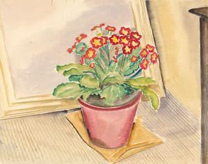 Ernest Fedarb NS (1905-2005) - Mid 20th Century Watercolour, Primroses