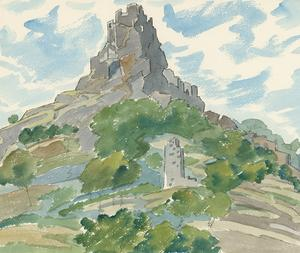 Ernest Fedarb NS (1905-2005) - Mid 20th Century Watercolour, Edinburgh Castle
