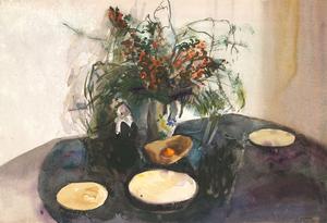 Howard J. Morgan (b.1949) - Signed Contemporary Watercolour, Still Life