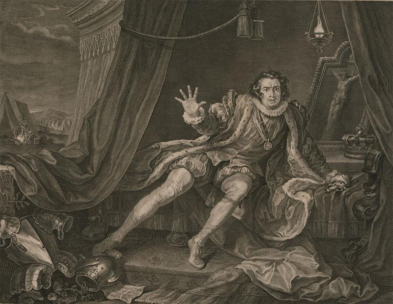 William Hogarth (1697-1764) - Engraving, Mr Garrick, Richard the Third