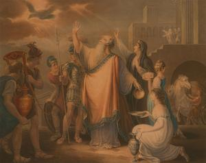 Anthony Fogg after W. Hamilton RA - 1801 Engraving, Priam's Prayer