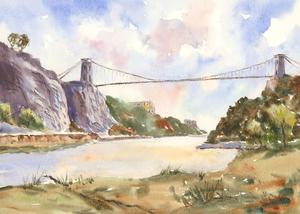 John A. Case - Contemporary Watercolour, Clifton Suspension Bridge, Bristol