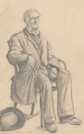 Stanley Ashton - Early 20th Century Graphite Drawing, A Seated Gentleman