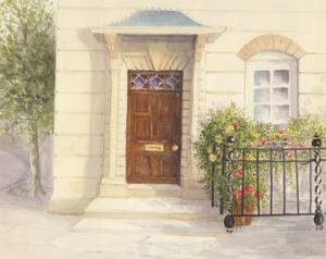 Audrey Pardoe - 1996 Watercolour, Doorway, Kensington