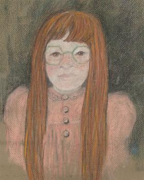 Audrey Pardoe - 1990 Pastel, Portrait of Amanda