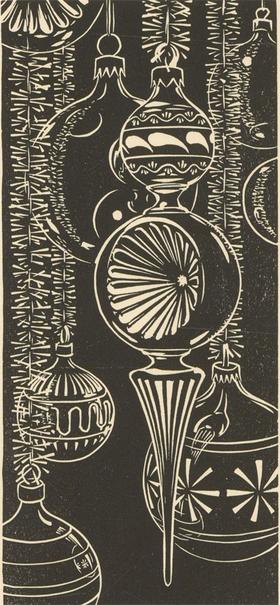 Robert Gordon Sellar (1920-2010) - Contemporary Linoprint, Christmas Fantasy