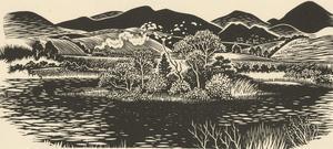 Robert Gordon Sellar (1920-2010) - Contemporary Linoprint, Ballyroney Lough