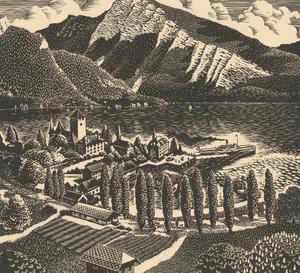 Robert Gordon Sellar (1920-2010) - Signed Contemporary Linoprint, Spiez