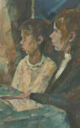 James McLernon (1935-2012) - Contemporary Oil, Studying Girls