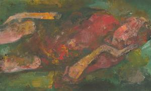 James McLernon (1935-2012) - Contemporary Oil, Reclining Figure