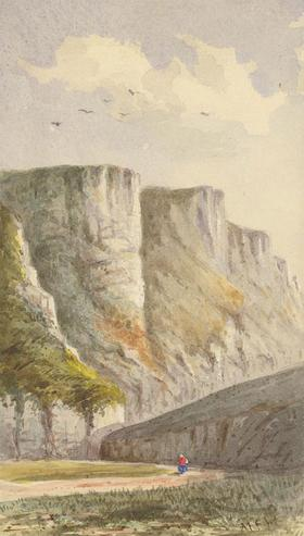 Margaret Forde Hancock - A Pair of Late 19th Century Watercolours, Cliff Studies