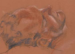 Ann Matthews - 20th Century Pastel, Sleeping Man