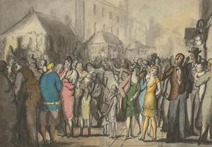 Harold Hope Read (1881-1959) - Watercolour, Street Scene with Crowd
