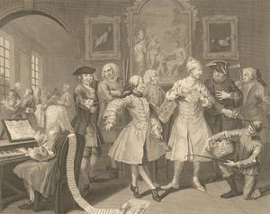 Thomas Cook after Hogarth - 1796 Engraving, A Rake's Progress: Plate II