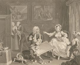 Thomas Cook after Hogarth - 1798 Engraving, A Harlot's Progress: Plate II