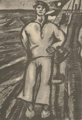 Aldo Carpi (1886-1973) - Mid 20th Century Lithograph, The Sailor