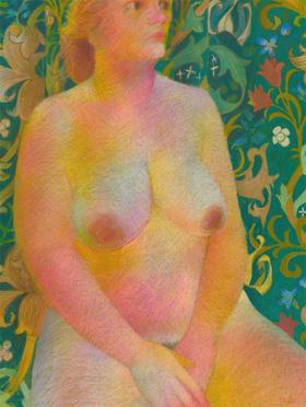 John Ivor Stewart PPPS (1936-2018) - Contemporary Pastel, Seated Female Figure