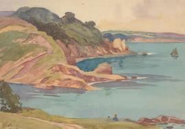 J.H. Blerkeley - Signed Mid 20th Century Watercolour, Coastal Headland
