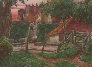 Cecil Cross - Early 20th Century Watercolour, Ypres Tower Castle