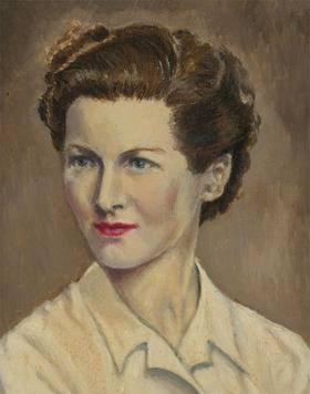 Nora Parker - 20th Century Oil, Portrait of a Well-Dressed Lady