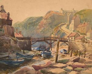 Charles Edward Hannaford RBA (1863-1955) - Watercolour, Low Tide