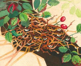 Pair of 20th Century Watercolours - Hedgerow