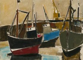 Arthur Freeman (1927-1992) - 1978 Gouache, Folkestone Harbour