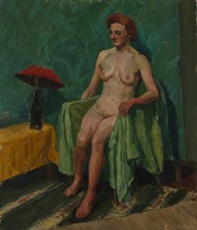 Clifford H. Thompson (1926-2017) - Mid 20th Century Watercolour, Seated Nude