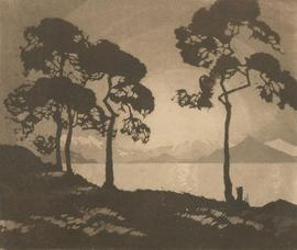 Freda Violet Lingstrom OBE (1893-1989) - Early 20th Century Aquatint, Sunset