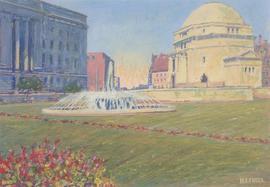 Henry E. Foster (1921-2010) - 1964 Gouache, Hall of Memory, Birmingham