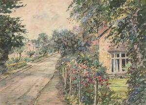 Henry E. Foster (1921-2010) - 1972 Watercolour, Castle Rd, Studley