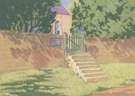 Henry E. Foster (1921-2010) - 20th Century Gouache, Chapel Steps, Littledale
