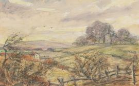 Henry E. Foster (1921-2010) - 1981 Watercolour, A Windy Day