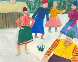 Mana Lagerholm (1946-2001) - 20th Century Gouache, Snow Encounter