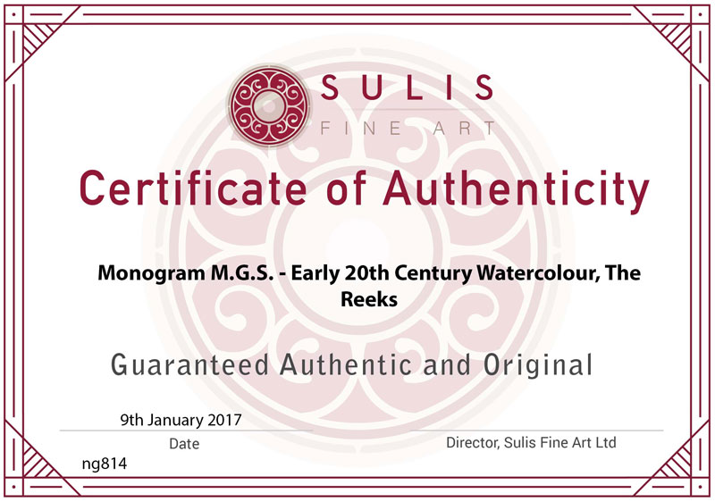 Certificate of Authenticity Example